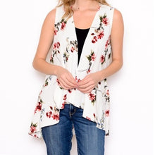 Load image into Gallery viewer, Ivory Floral Vest