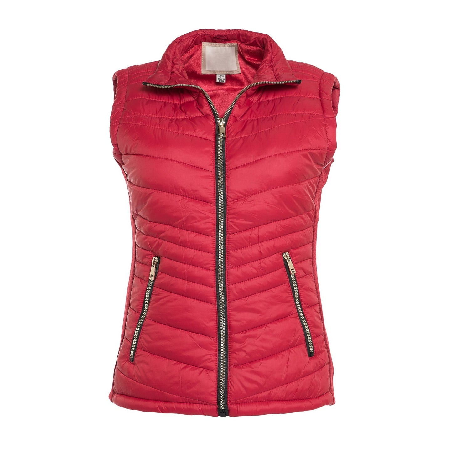 Always Fair Weather Puffer Vest in Red