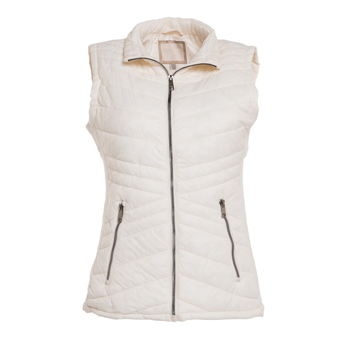 Always Fair Weather Puffer Vest in Ivory