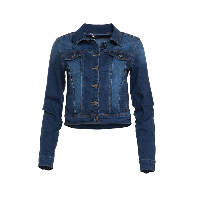 Dark Wash Stretch Denim Jacket