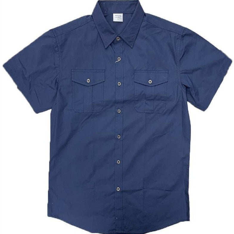 Clark Kent Standard Button Up in Navy MEN