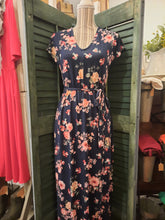 Load image into Gallery viewer, Floral Perfection Maxi Dress in Navy