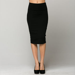 Wardrobe Staple Pencil Skirt in Black