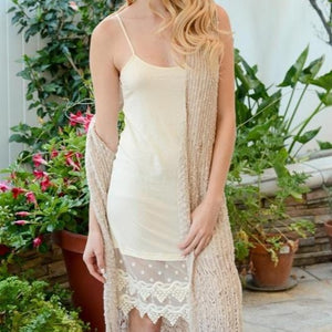 Pardon My Lace Slip Dress Extender in Ivory