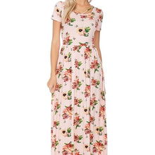 Load image into Gallery viewer, Sunday Stroll Floral Dress in Blush