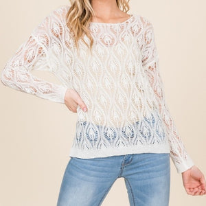 Whatever is Lovely Loose Knit Sweater in Ivory