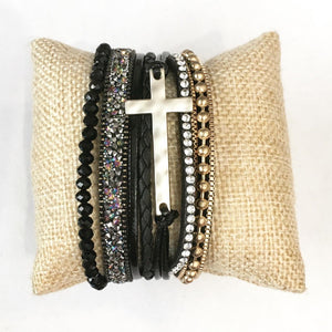 Faith Over Fear Bracelet in Black