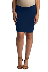 Pardon My Bump Ponte Skirt in Navy MATERNITY