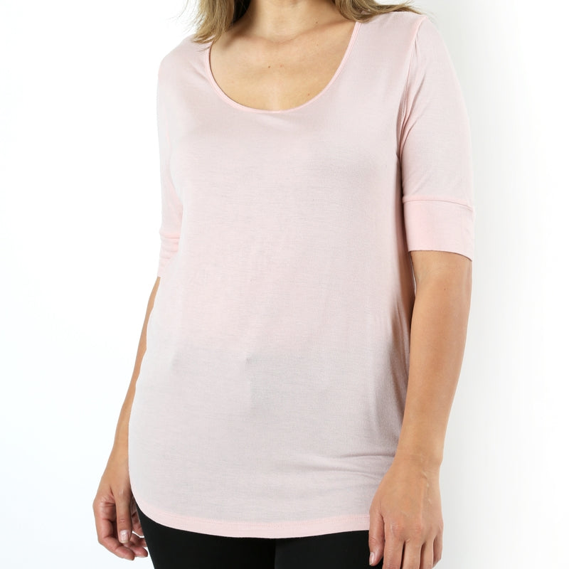 Pink Perfection Rayon Tee in Blush PLUS