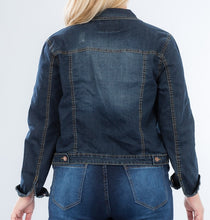 Load image into Gallery viewer, Living the Dream Denim Stretch Jacket PLUS