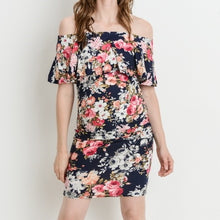 Load image into Gallery viewer, Kiss Me Once Again Floral Ruffled Dress MATERNITY