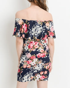 Kiss Me Once Again Floral Ruffled Dress MATERNITY