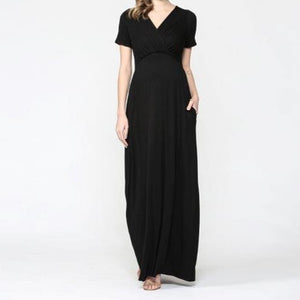 Just a Dream Maxi Dress in Black MATERNITY