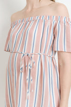 Load image into Gallery viewer, Somebody Loves Me Striped Off Shoulder Top MATERNITY