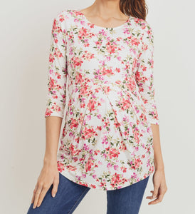 Floral Dreams Pleated Top MATERNITY