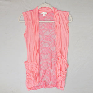Making Memories Lace Back Vest in Coral