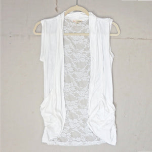 Making Memories Lace Back Vest in Ivory