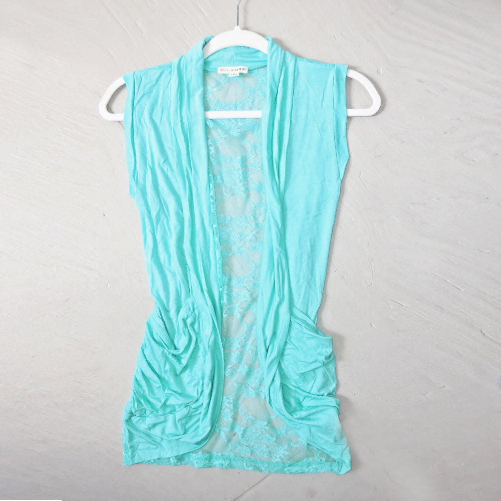 Making Memories Lace Back Vest in Mint