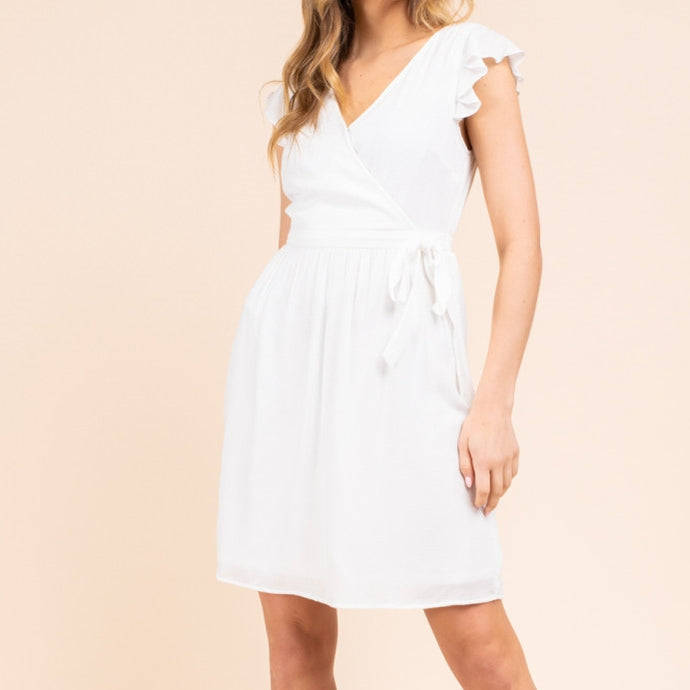 Daydream Wrap Dress in Ivory