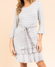 Load image into Gallery viewer, Dancing Cheek to Cheek Striped Ruffle Dress