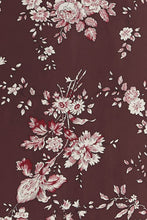Load image into Gallery viewer, Plum Floral Duster