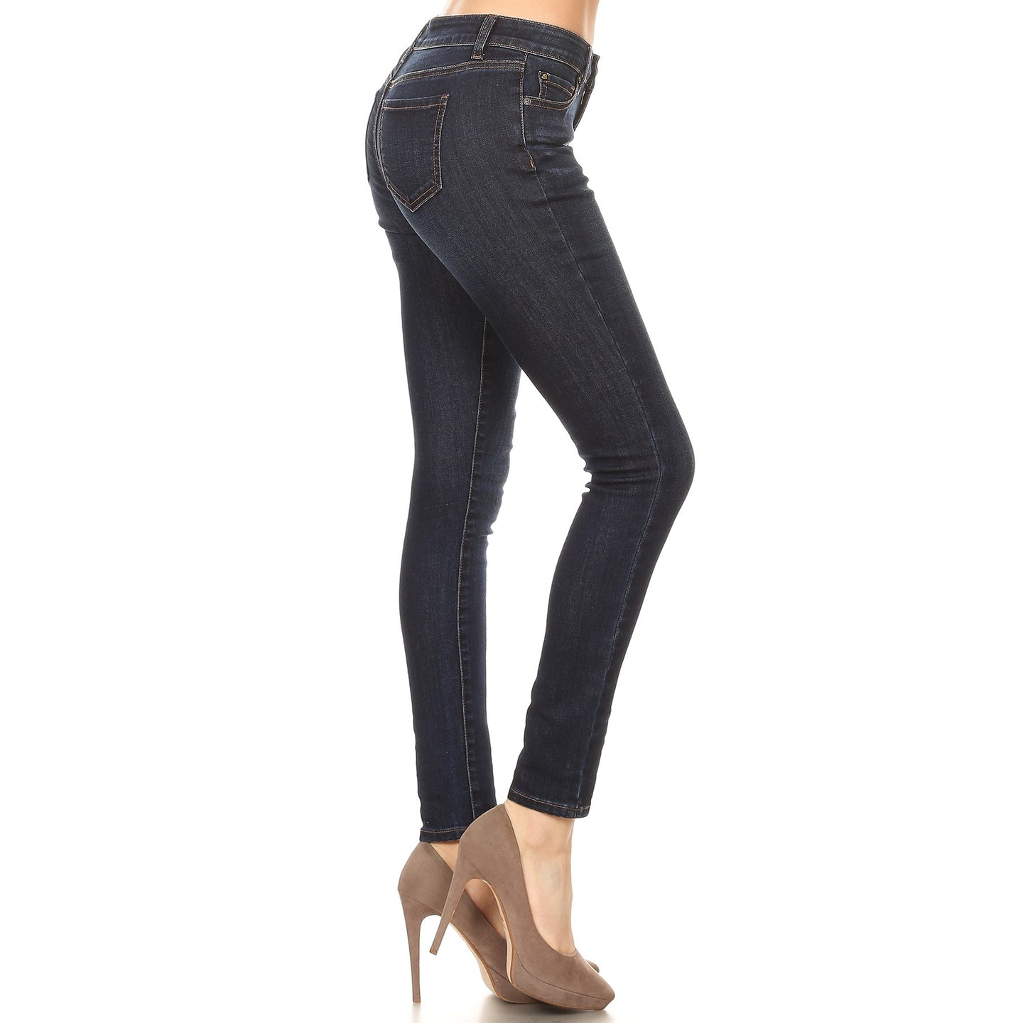 Let's Go Shopping Stretch Skinny Jeans in Dark Wash