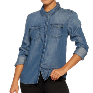 All American Girl Fitted Denim Shirt