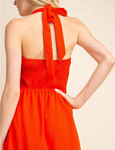 Red Halter Top Dress