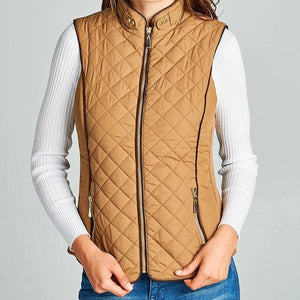 Southern Cold Snap Sherpa Lined Vest in Camel