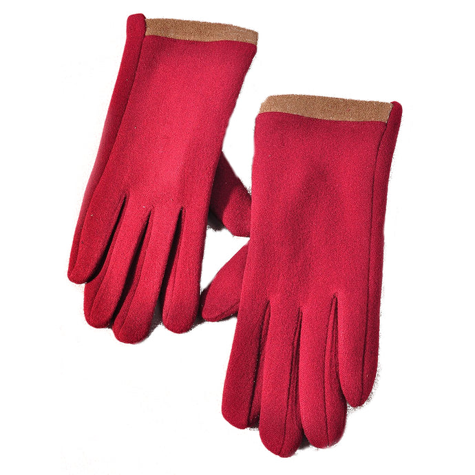 Cozy Burgundy Gloves