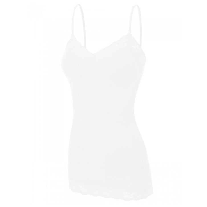 It Had to be You Lace Camisole in White PLUS