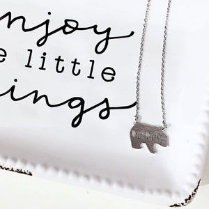 Mama Bear Necklace in Silver