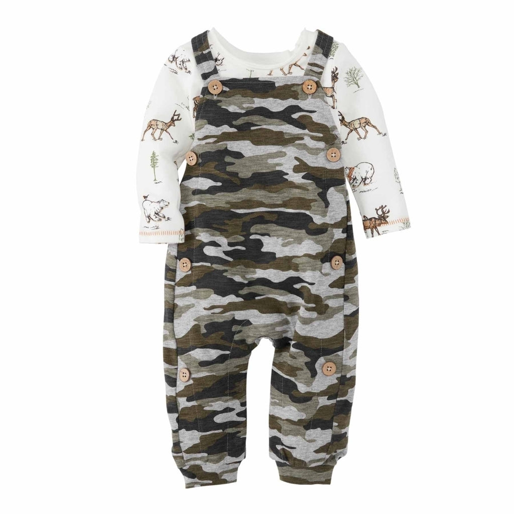 Baby Boy Hunting Overall Set