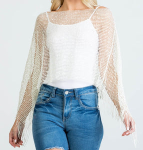 Cream Sequin Layer