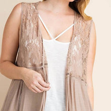 Load image into Gallery viewer, Dream of You Mocha Lace Duster PLUS