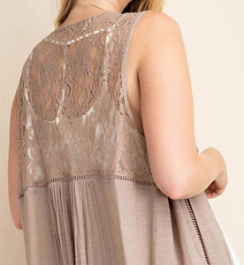 Dream of You Mocha Lace Duster PLUS