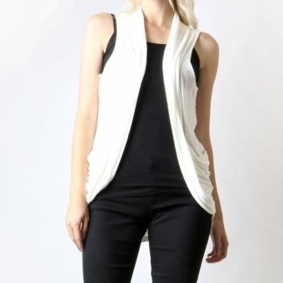 Dream Come True Layering Vest in Ivory