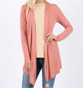 Wear With All Cardi Draped Cardigan in Rose