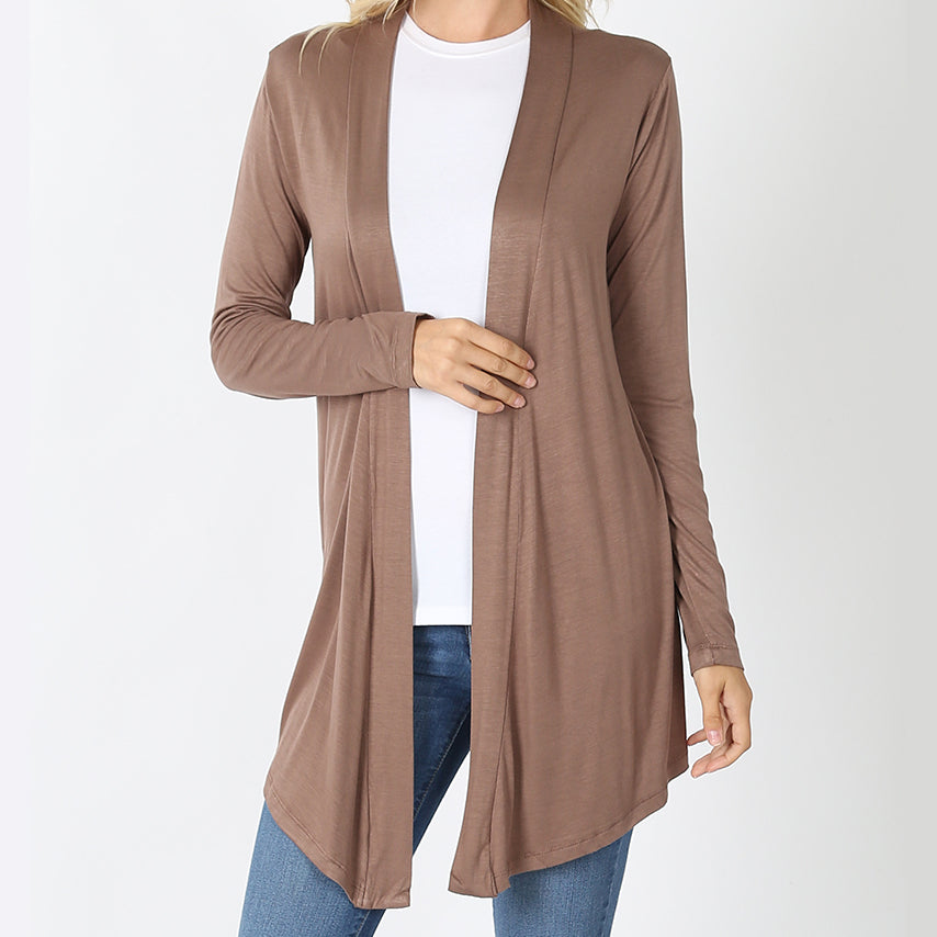 Wear With All Cardi Draped Cardigan in Mocha