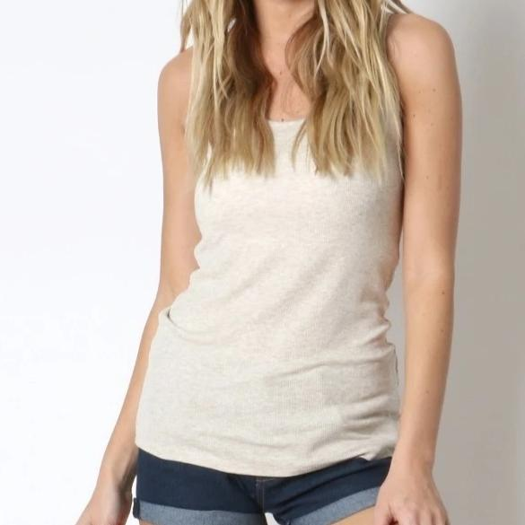 A Fine Romance Tank Top in Oatmeal