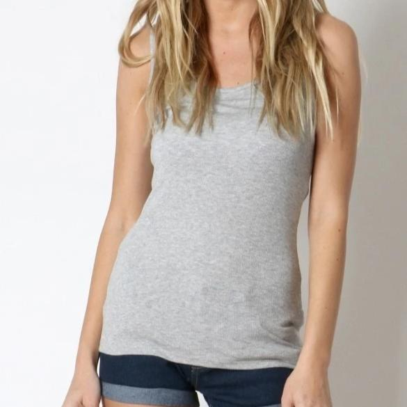 A Fine Romance Tank Top in Gray