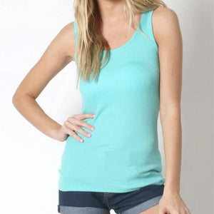 A Fine Romance Tank Top in Turquoise