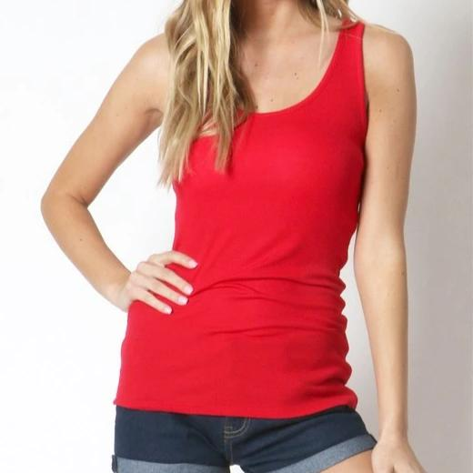 A Fine Romance Tank Top in Red