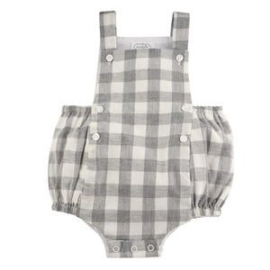 Baby Boy Gingham Bubble Romper