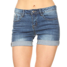 Load image into Gallery viewer, Distressed Denim Shorts