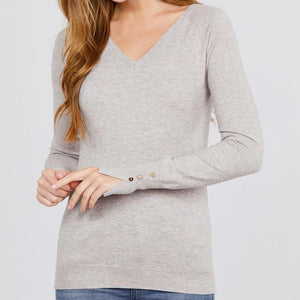 Take Me in Your Arms Viscose Sweater in Taupe