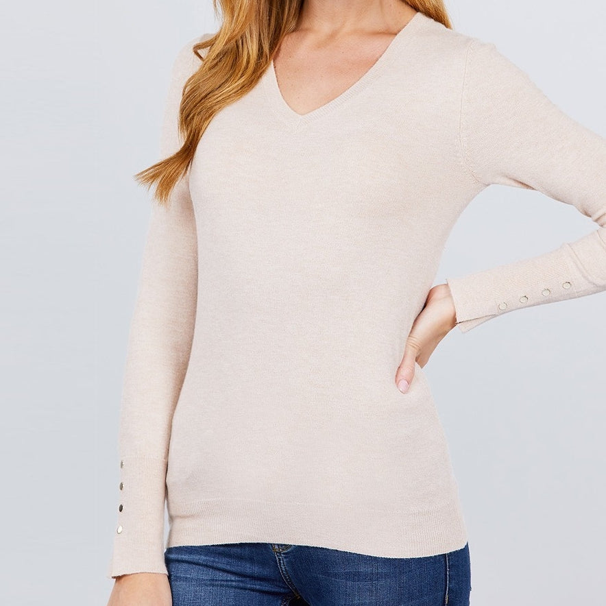 All the Things You Are Viscose Sweater in Taupe