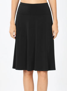 Stepping Out Flare Skirt in Black