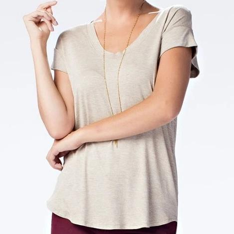 Afternoon Breeze Viscose Top in Oatmeal
