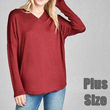 Load image into Gallery viewer, Bye Bye Baby Hacci Sweater in Burgundy PLUS